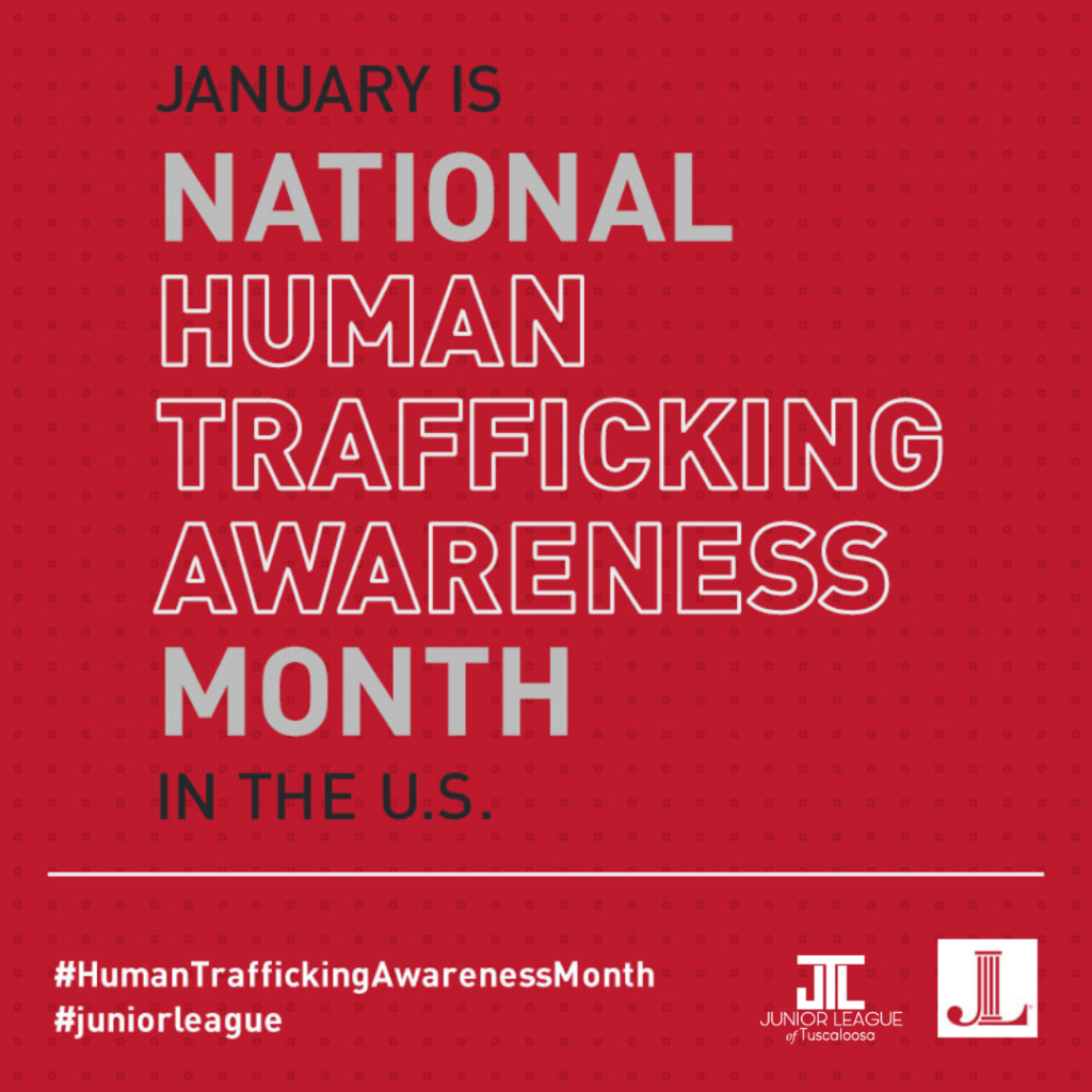 The Junior League of Tuscaloosa participates in National Human Trafficking Awareness Month